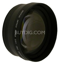 Professional 2x Telephoto Lens Converter - for 62mm threading