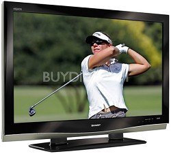 "LC-52D62U - AQUOS 52"" High-definition 1080p LCD TV"