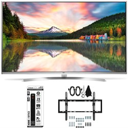 60UH8500 - 60-Inch Super Ultra HD 4K Smart LED TV Flat + Tilt Wall Mount Bundle