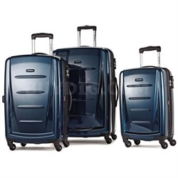 Winfield 2 Fashion Hardside 3 Pc Spinner Set - Deep Blue 56847-1277 - OPEN BOX