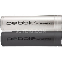VPP002SS Pebble Smartstick Emergency portable battery back up power, 2200mah Slv