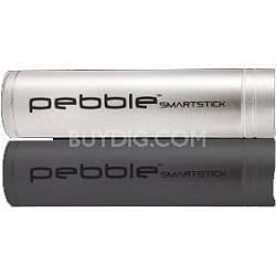 VPP002SS Pebble Smartstick Emergency portable battery back up power, 2200mah Slv