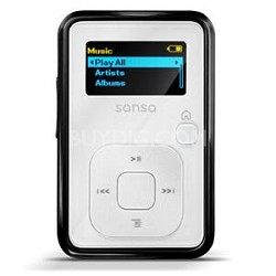 Sansa Clip Plus 4GB White MP3 Player  ( SDMX18R-004GW-A57 )