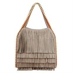 Gracie Fringe Shoulder Bag, Grey