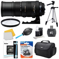 150-500mm F/5-6.3 APO DG OS HSM Autofocus Lens For Sigma - Lens Kit Bundle