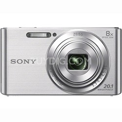 DSC-W830 Cyber-shot 20.1MP 2.7-Inch LCD Digital Camera - Silver - OPEN BOX