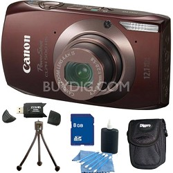 PowerShot ELPH 500 HS Brown Digital Camera 8GB Bundle