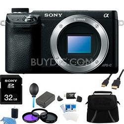 Alpha NEX-6 16.1 MP Digital Camera (Black Body Only) Ultimate Bundle