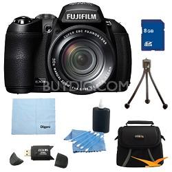 FinePix HS25EXR 16MP BSI EXR CMOS Digital Camera 8 GB Bundle