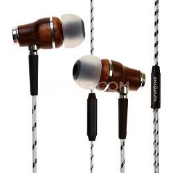 NRG Premium Genuine Wood In-ear Noise-isolating Headphones with Mic (Zebra)