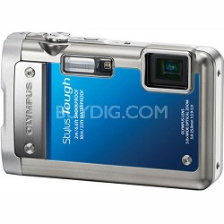 Stylus Tough 8010 Waterproof Shockproof Freezeproof Camera (Blue) - REFURBISHED