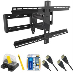 "Pro Series Large Extension TV Mount & Set Up Kit for 37""-90"" TVs up to 100LB"