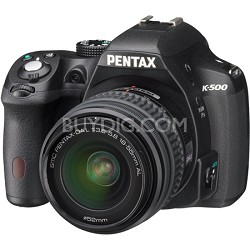K-500 Black w/ 18-55mm Lens 16MP Digital SLR Camera Kit