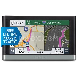 "2557LMT 5"" GPS Navigation System with Lifetime Maps and Traffic Updates"