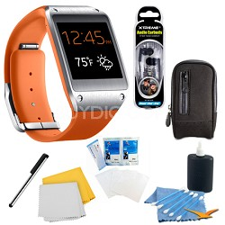 Wild Orange Galaxy Gear Smartwatch Accessory Bundle