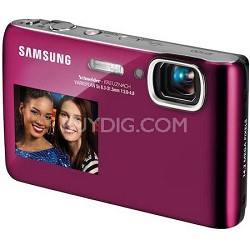 DualView ST100 14MP 3.5 inch Touchscreen Pink Digital Camera w/ HD Video