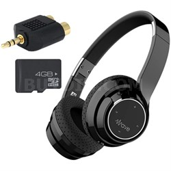 Wave Bluetooth Wireless On-Ear Headphones with Memory Card Bundle