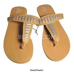 FOM277 Sandals Sand/Pewter Size Medium (7/8)