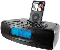 iLive CI3807 Dual Alarm Clock with iPod Dock (Black)