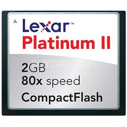 2 GB 80X Platinum II CompactFlash Card
