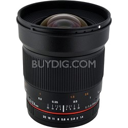 24mm F1.4 ED AS IF UMC Wide Angle Lens for Sony E-Mount (NEX) Cameras (RK24M-E)