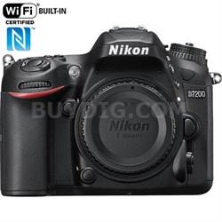 D7200 DX 24.2MP Digital HD-SLR Camera Body WiFi NFC - Manufacturer Refurbished