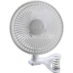 6-inch 2-Speed White Clip Fan