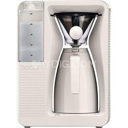 Bistro Electric Pour Over Coffeemaker - White
