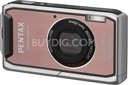 Optio W60 Waterproof 10MP Digital Camera w/ 5X Optical Zoom (Pink)