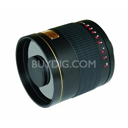500mm f/6.3 Multi-Coated ED Mirror Lens for Nikon DSLR Cameras (Black)