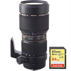 SP AF70-200mm F/2.8 Di LD [IF] Macro for Nikon USA Warranty w/ 64GB Memory Card