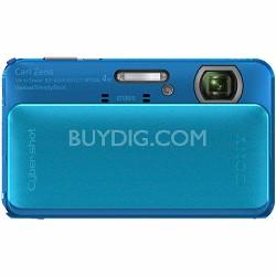 Cyber-shot DSC-TX20 16.2 MP Waterproof Shockproof 3D Sweep Camera (Blue)