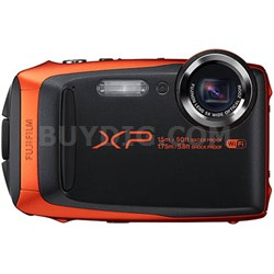 FinePix XP90 16 MP Waterproof Digital Camera with 3-inch LCD - Orange