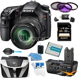 SLTA77VM a77 DSLR 24.3MP with 18-135mm Zoom Lens and Vertical Grip Accessory Kit