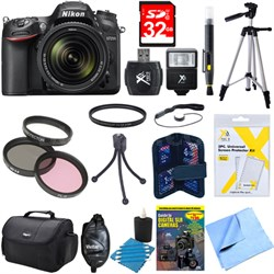 D7200 DX-format Black Digital SLR Camera Kit with 18-140mm VR Lens Deluxe Bundle