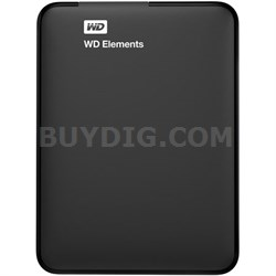 500GB WD Elements Portable USB 3.0 Hard Drive 6 Months WD Warranty - Refurbished