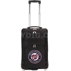 MLB 21-Inch Carry On Luggage, Black - Washington Nationals