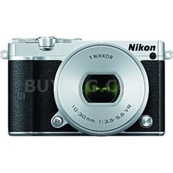 1 J5 Digital Camera w/ NIKKOR 10-30mm f/3.5-5.6 PD Zoom Lens - Silver - REFURB