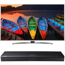 "65"" Super UHD Smart LED TV w/webOS 3.0 + Samsung UBDK8500 4K UHD Blu-Ray Player"