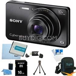 Cyber-shot DSC-W690 16MP 10X Zoom 720p Video Digital Camera (Black) 16GB Bundle