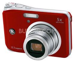 "A1250 12.2MP 2.5"" LCD 5x Zoom Digital Camera (Red)"