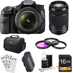 Alpha SLT-A58K Digital SLR Camera 16 GB 55-300mm Lens Bundle