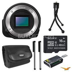 ILCE-QX1/B Interchangeable Lens Style Camera 16GB Bundle
