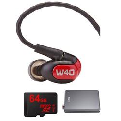 W40 Quad Driver Premium In-Ear Monitor Headphones - 78504 w/ FiiO E12 Amp Bundle