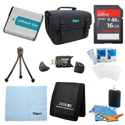 16GB Card and NP-FM500 Battery Value Kit for Sony Alpha SLT-A57K, SLT-A77V, a65