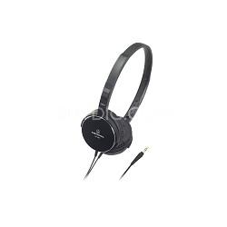 ATHES55BK On-Ear Headphones, Black