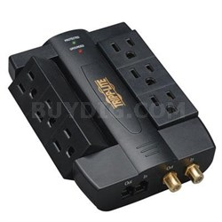 1200J 6-Outlet Direct Plug-in Audio/Video Surge Protector - HTSWIVEL6