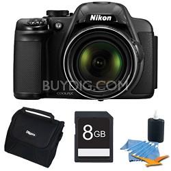 COOLPIX P520 18.1 MP 42x Zoom Digital Camera - Black Plus 8GB Memory Kit