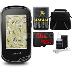 Oregon 750t Handheld GPS w/ Built-In Wi-Fi & Camera, 16GB MicroSD Bundle - U.S.