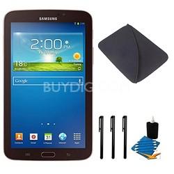 Galaxy Tab 3 (7-Inch, Gold-Brown) Essentials Bundle